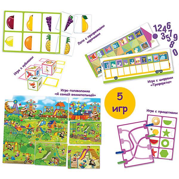 """Сундучок с  IQ играми """"Математика: Форма и счет"""", 3-5 лет"""