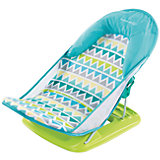 Лежак для купания Deluxe Baby Bather, Summer Infant, голубой, зигзаг
