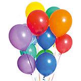 Воздушные шары, металлизированные, 30 см, 20 шт