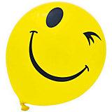 """Воздушные шары """"Смайлы"""", одноцветный рисунок, 30см, 20 шт"""