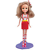 Набор для творчества с пластилином Fashion Dough и куклой Блондинка в красной юбке