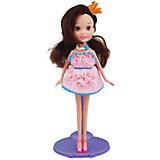 Набор для творчества с пластилином Fashion Dough и куклой Шатенка в розовом сарафане