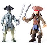 Набор фигурок Джек Воробей и член команды Салазара (призрак) с саблями, Spin Master, Пираты Карибского моря