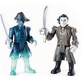 Набор фигурок Капитан Салазар и член его команды (призрак) с саблями, Spin Master, Пираты Карибского моря