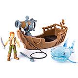 Фигурка героя с лодкой и акулой, Spin Master, Пираты Карибского моря