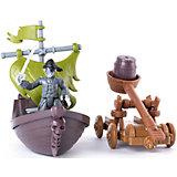 Фигурка героя с  лодкой и катапультой, Spin Master, Пираты Карибского моря