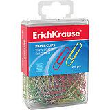 Erich Krause Скрепки цветные, 28 мм, в пласт. коробочке, 200 шт.