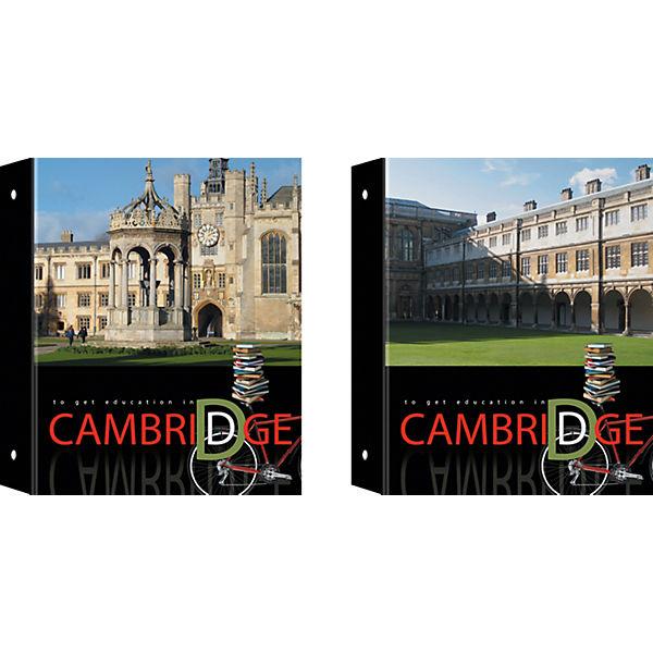 Полиграфика Тетрадь на кольцах, А5 клетка 80л ламинат Cambridge + 1 сменный блок