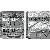 Erich Krause Тетрадь на кольцах А5, клетка 80л City: Moments, серебро+черный+ламинат (глянцевый)