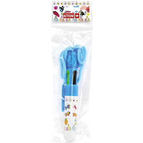 Ручка шариковая Action!, 4 цвета в одной ручке