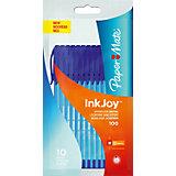 """Ручка шариковая Paper mate """"Inkjoy"""" 10 шт., синяя"""