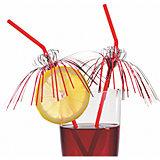 """Трубочки для коктейля """"Гламур"""", 24 см., 10 шт., с фольгой, блистер"""