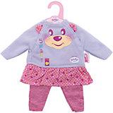 Комплект одежды для дома, 32 см, My Little BABY born, серо-розовый