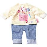 Комплект одежды для дома, 32 см, My Little BABY born, бежево-голубой