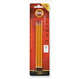 KOH-I-NOOR Набор карандашей чернографитных, 3 шт