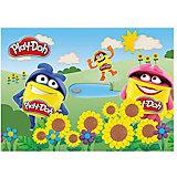 Play-Doh Подкладка на стол для лепки и рисования А4 Размер 21 x 30 см.