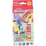 Play-Doh Масляная пастель 12 цветов в картонной коробке + 2 раскраски Размер 19,8 х 8,8 х 1,8 см.