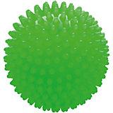 Мяч ёжик зеленый люминесцентный, 8,5 см, МалышОК