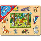 """Игра из дерева """"Весёлое лото. В лесу"""", Step Puzzle"""