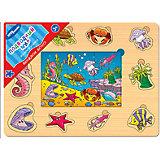 """Игра из дерева """"Весёлое лото. Подводный мир"""", Step Puzzle"""