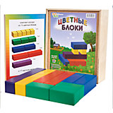 Цветные блоки, (коробка фанера), Световид