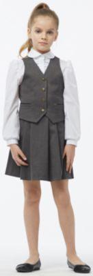 Комплект: жилет и юбка Смена для девочки - серый