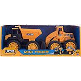 Набор JCB 18 см, 2 машинки, HTI