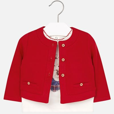 Комплект: блузка и кардиган Mayoral для девочки - красный