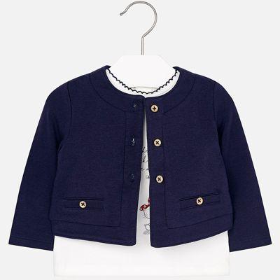 Комплект: блузка и кардиган Mayoral для девочки - синий
