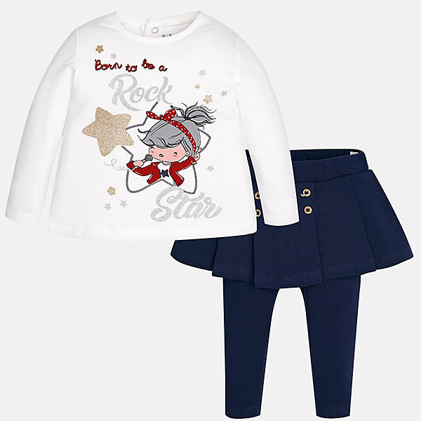 Комплект: блузка и леггинсы Mayoral для девочки