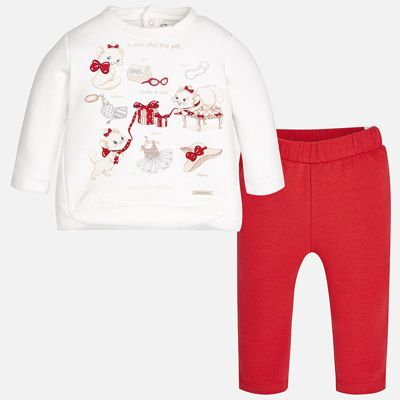 Спортивный костюм Mayoral для девочки - красный