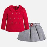 Комплект: блузка и юбка для девочки Mayoral