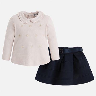 Комплект: блузка и юбка для девочки Mayoral - синий