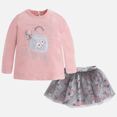 Комплект: блузка и юбка для девочки Mayoral - розовый