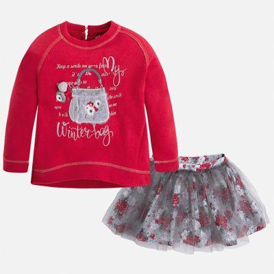 Комплект: блузка и юбка для девочки Mayoral - красный