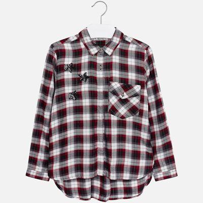 Рубашка Mayoral для девочки - красный