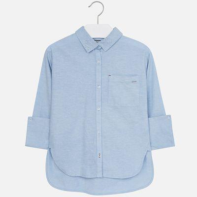 Рубашка Mayoral для девочки - голубой