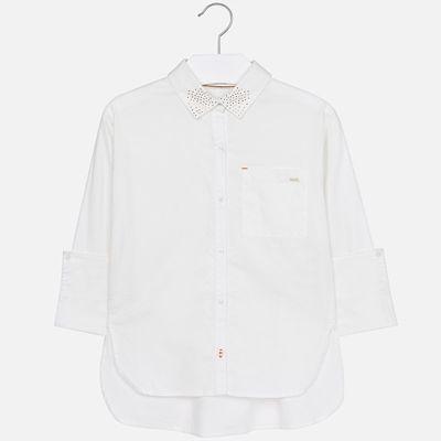 Рубашка Mayoral для девочки - бежевый