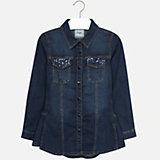 Рубашка джинсовая Mayoral для девочки