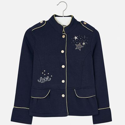 Пиджак для девочки Mayoral - черный