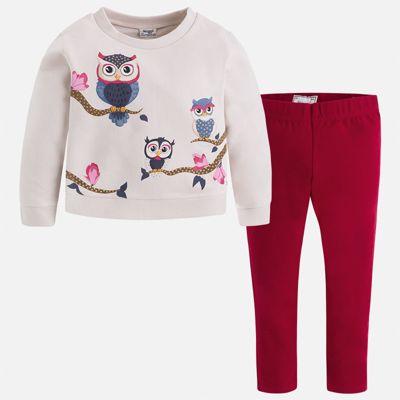 Комплект: блузка и леггинсы Mayoral для девочки - красный
