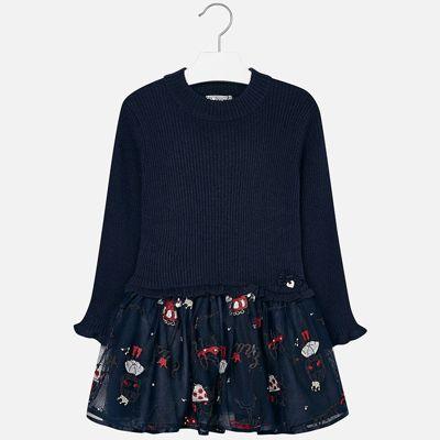 Платье для девочки Mayoral - темно-синий
