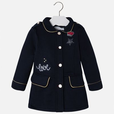 Пиджак для девочки Mayoral - темно-синий