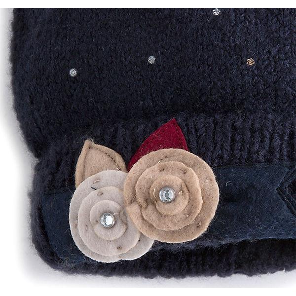 Комплект: шапка, шарф и перчатки для девочки Mayoral