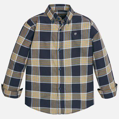 Рубашка для мальчика Mayoral - синий/оранжевый