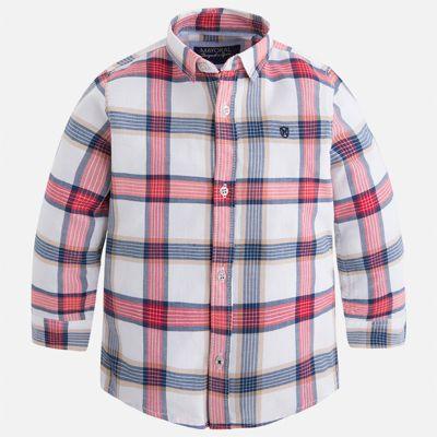 Рубашка Mayoral для мальчика - красный/белый