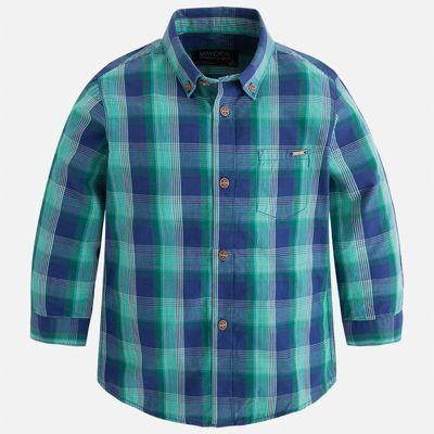 Рубашка Mayoral для мальчика - синий/зеленый