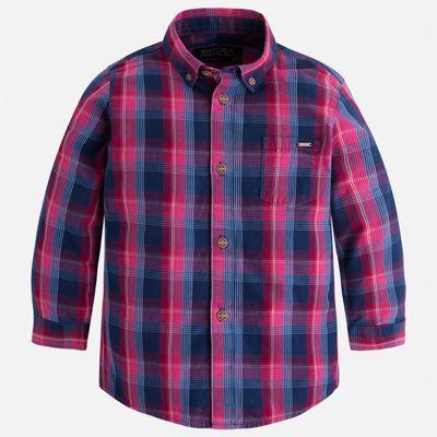 Рубашка Mayoral для мальчика - синий/красный