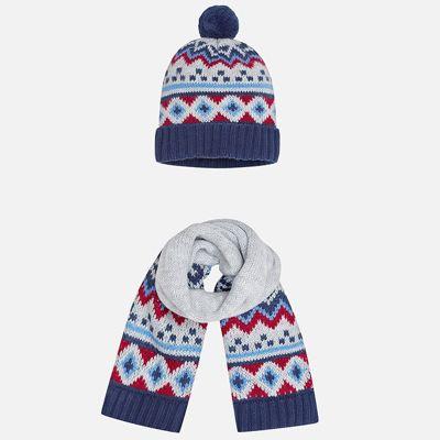 Комплект: шапка и шарф Mayoral для мальчика - серый