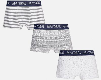 Трусы (3 шт.) для мальчика Mayoral - белый/серый
